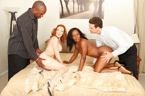 hardcore interracial foursome sex